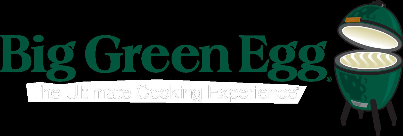 big green egg logo white